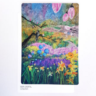Poster KK025 krijtbord tekening Voorjaar